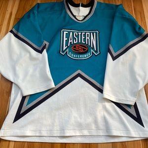 Vintage 1996 NHL Eastern Conference Hockey Jersey CCM Large READ DESCRIPTION